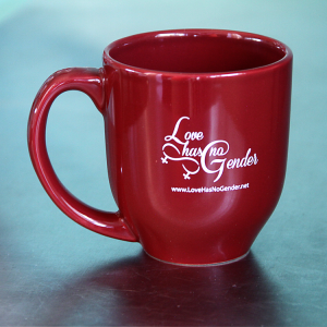 Love Has No Gender Ceramic Mug - Maroon