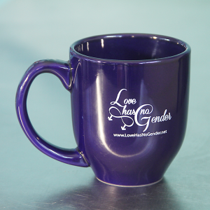 Love Has No Gender Ceramic Mug - Midnight Blue